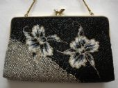 1970's - 1980's Floral Design Evening Purse - Use as Clutch or on Chain (Sorry this item is sold)